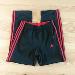 Adidas sweatpants track pants medium black red